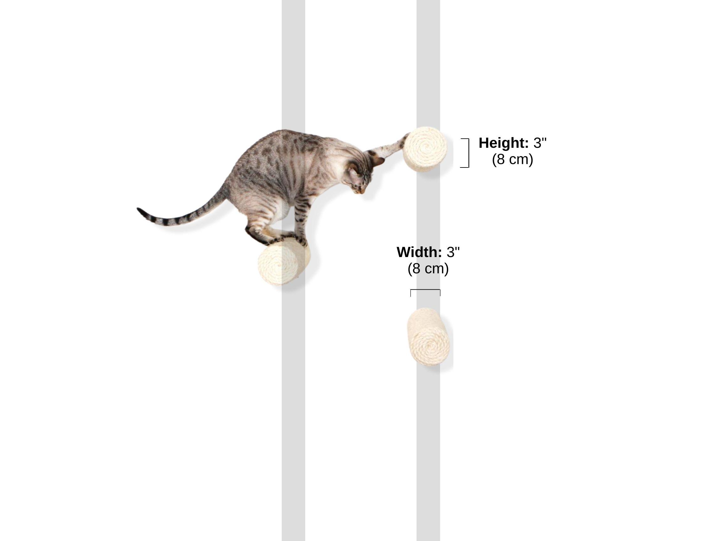 Stud spacing and Dimensions of floating sisal poles