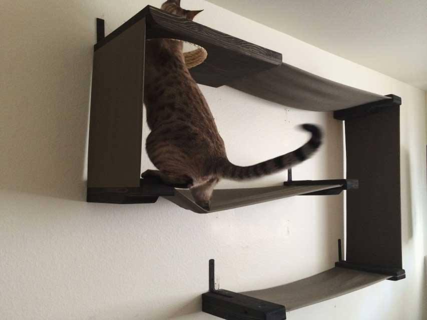 fabric cat - Cat Jungle Gym