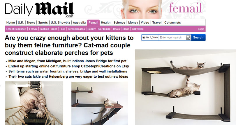 catastrophic creations on daily mail