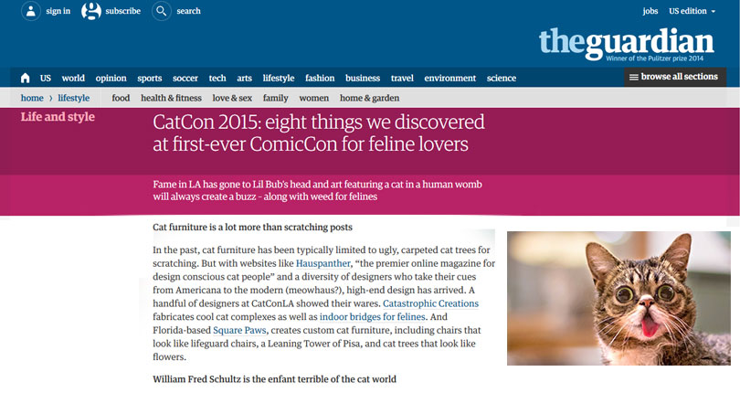 the guardian home page
