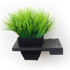 A Planter in Onyx, a black stain.