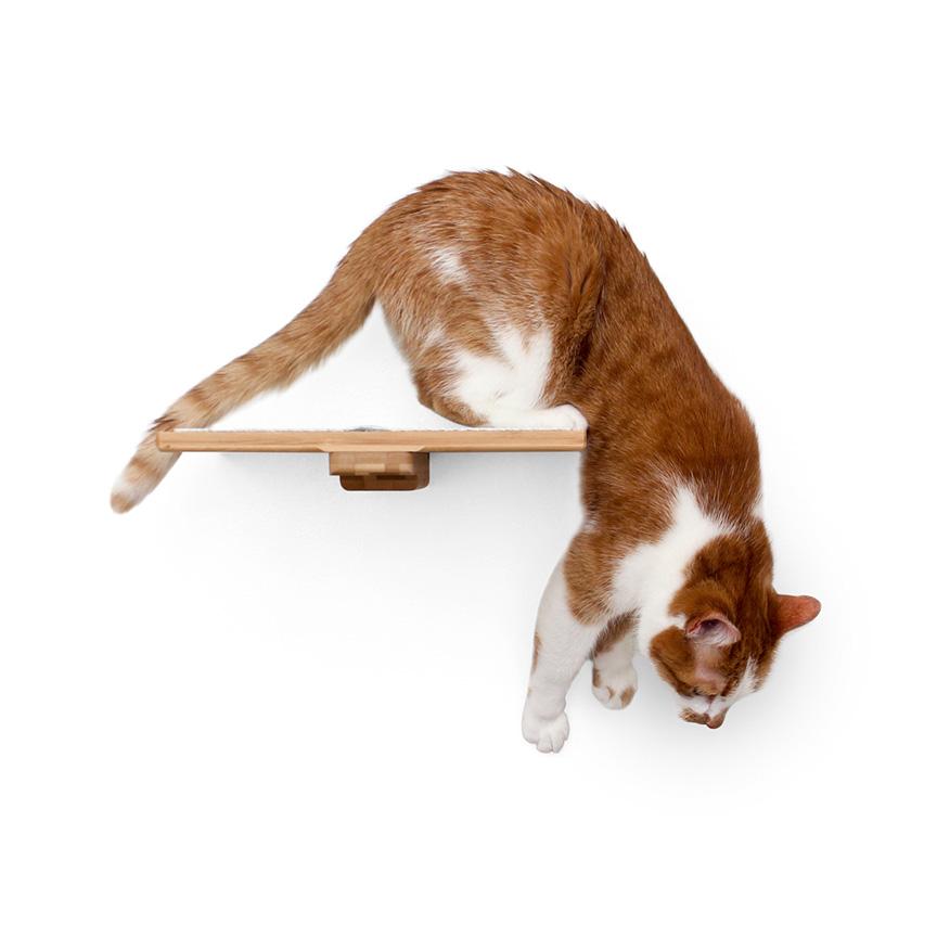 12 Burlap-Covered Cat Shelf