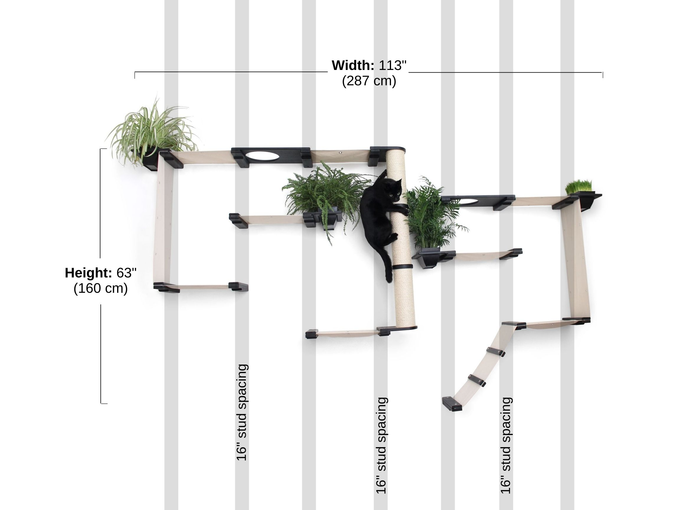 Stud spacing and dimensions of gardens complex