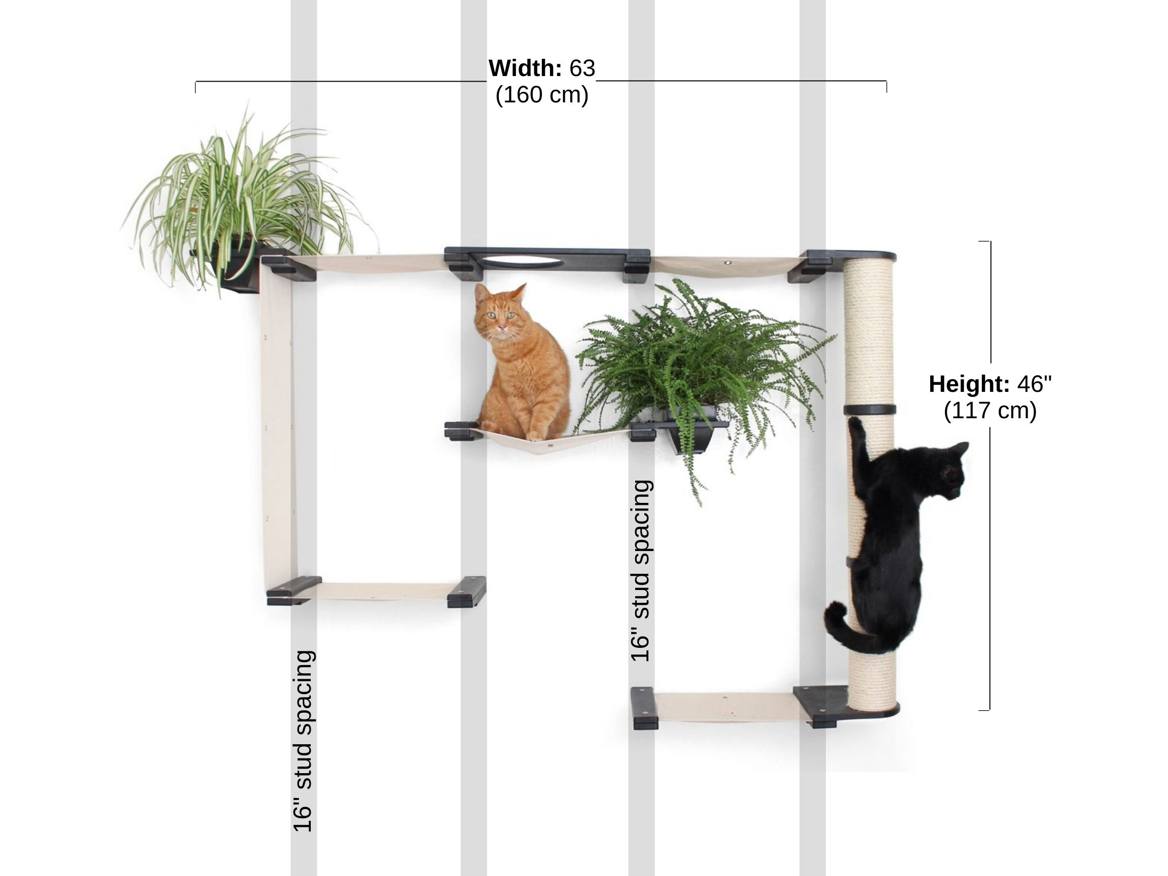 Stud spacing and Dimensions of mini garden