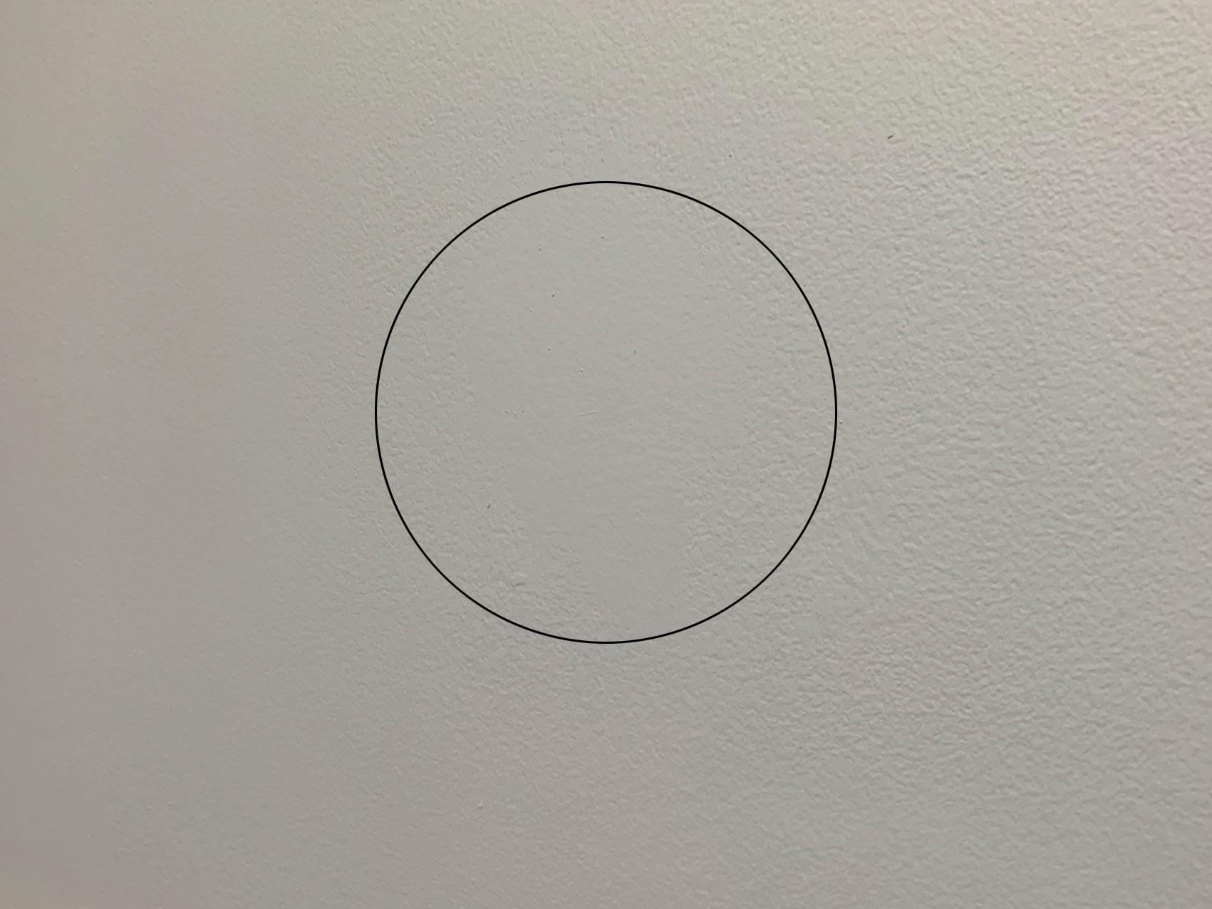 circle on wall