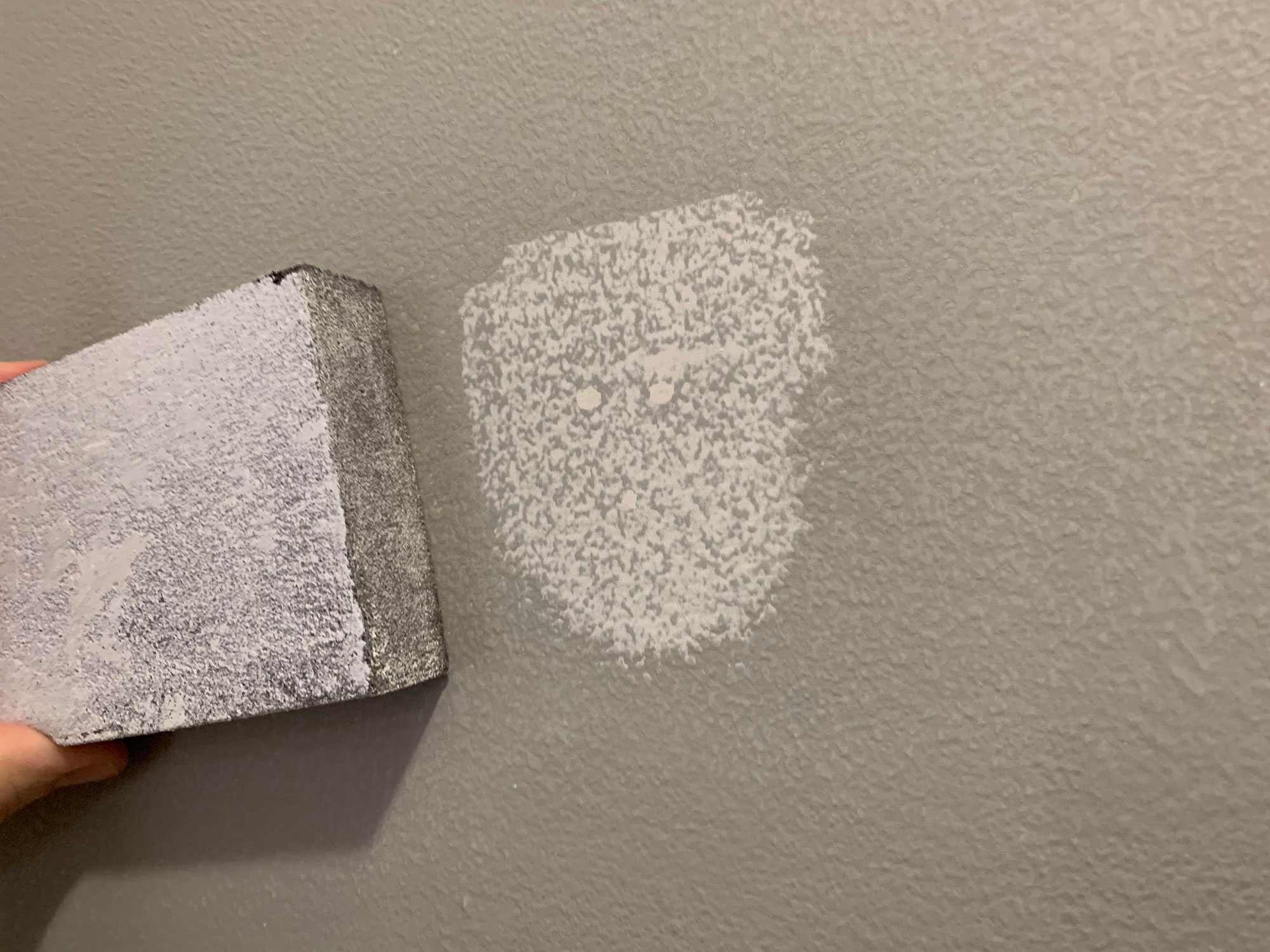filled holes with spackle