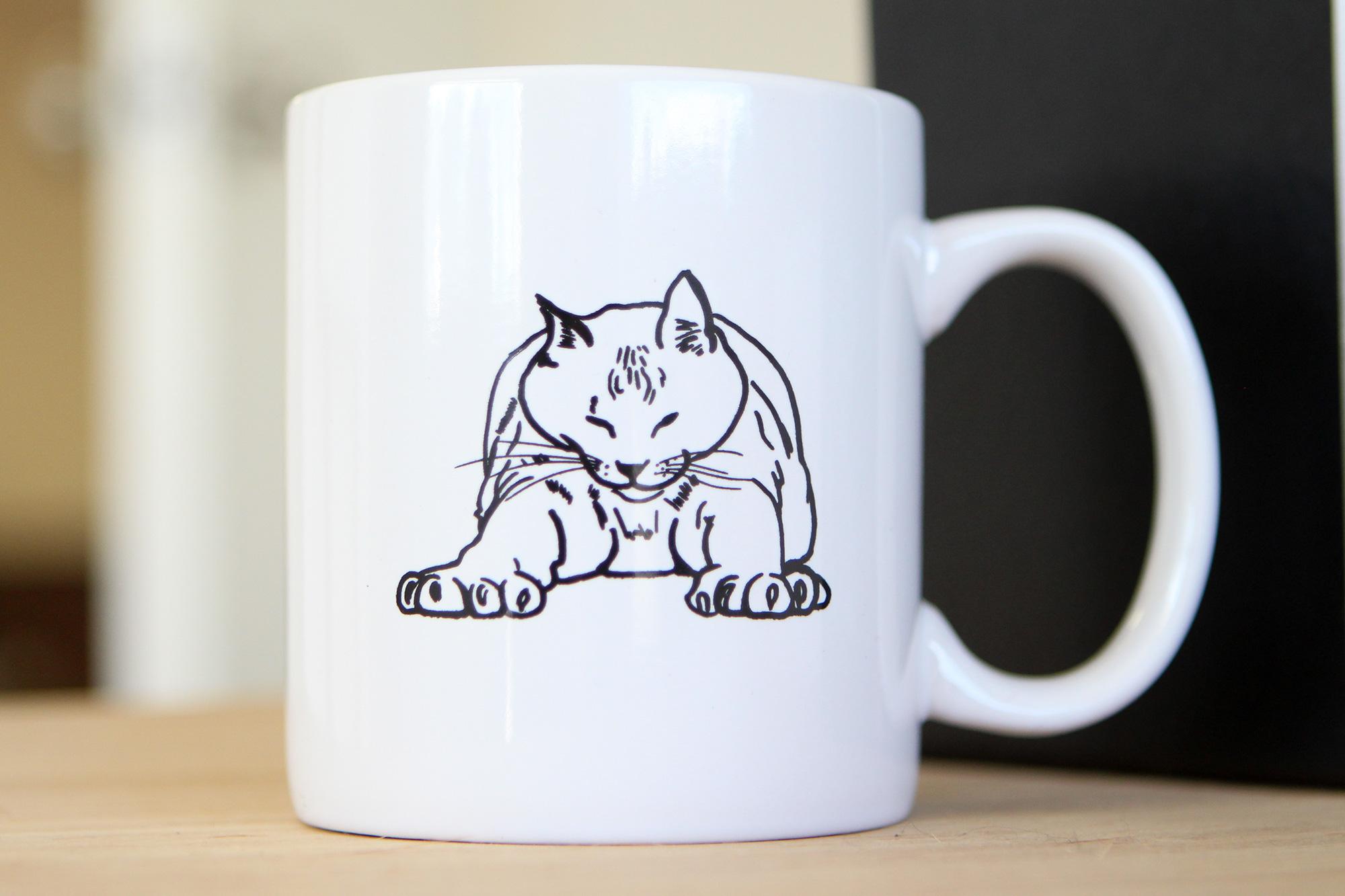 white Bronson mug