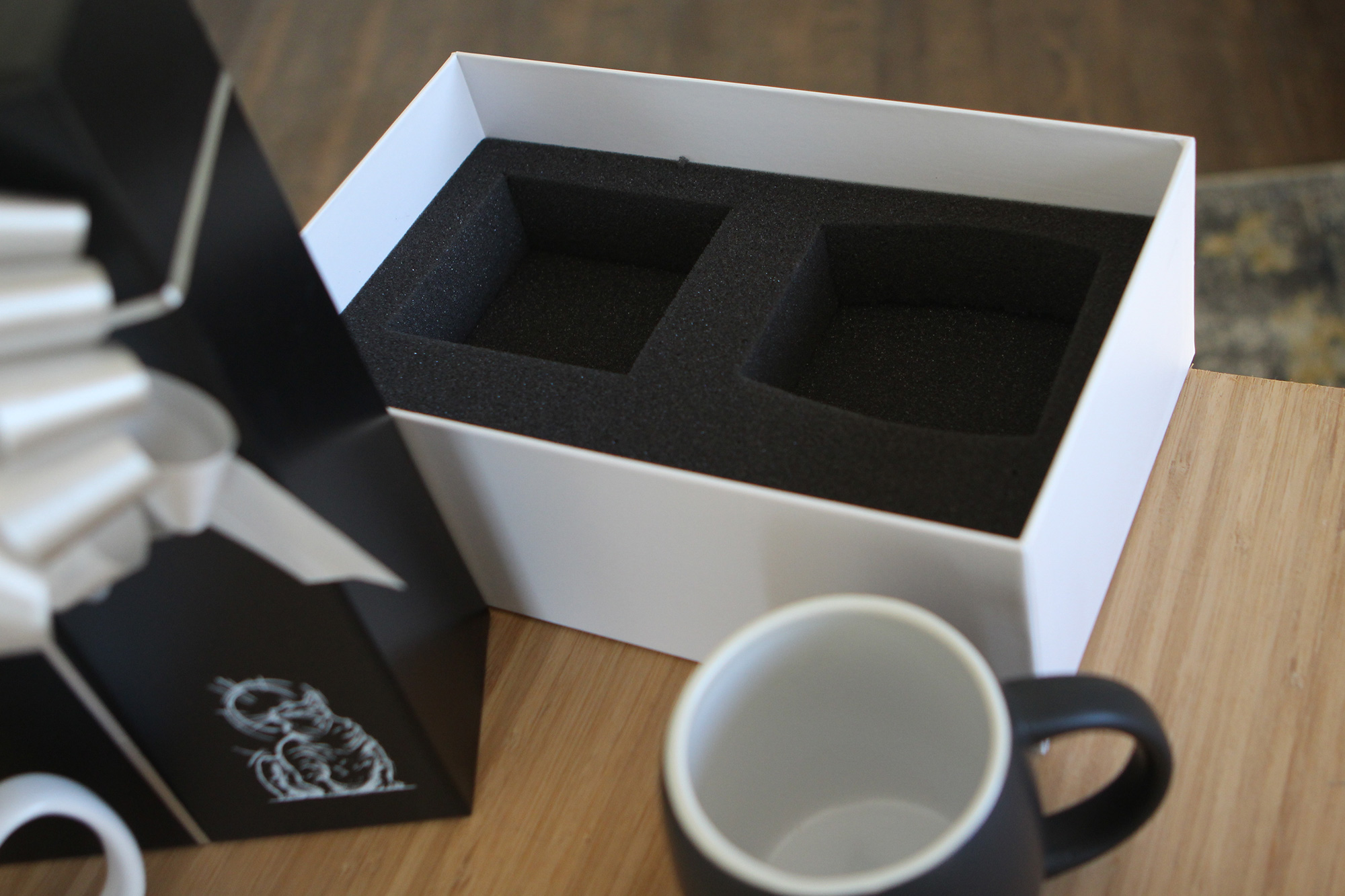 Bronson gift mugs and box