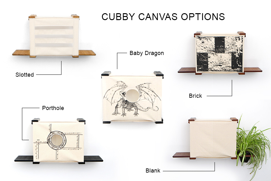 the five options for cubby designs