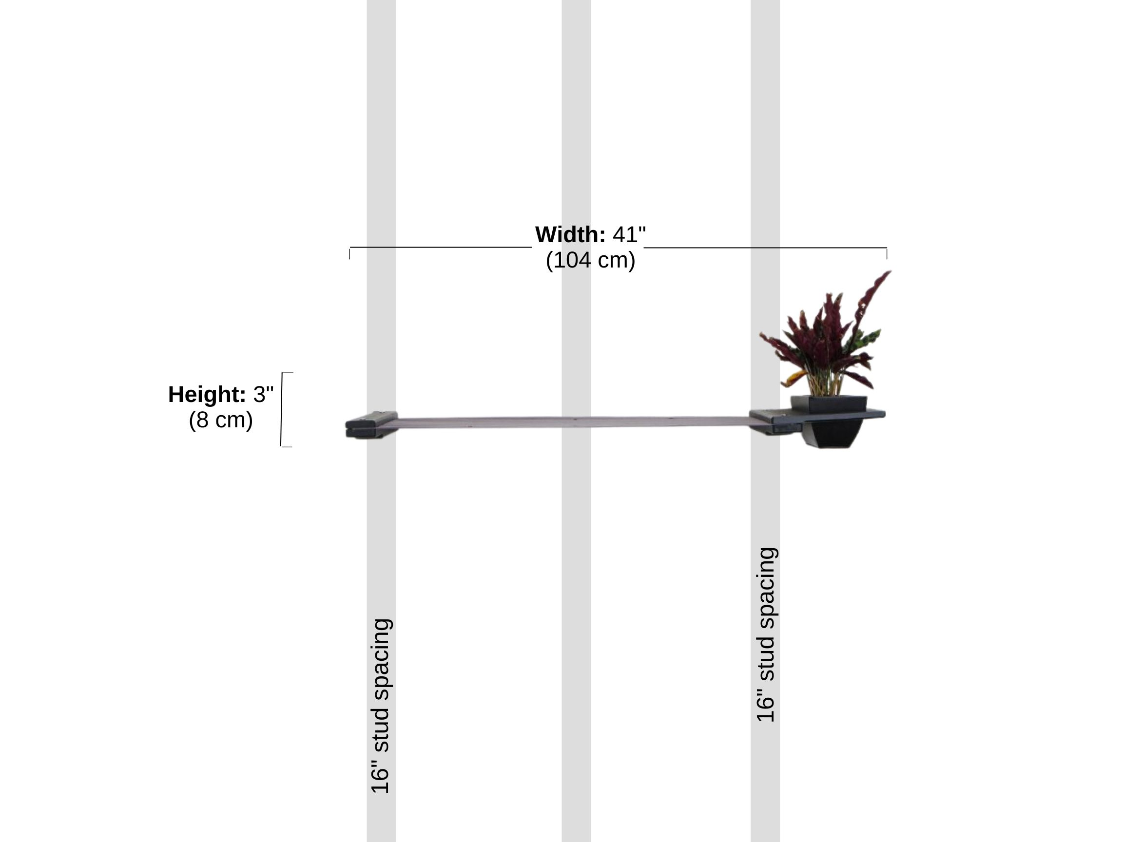 stud spacing and dimensions of feeder lounge