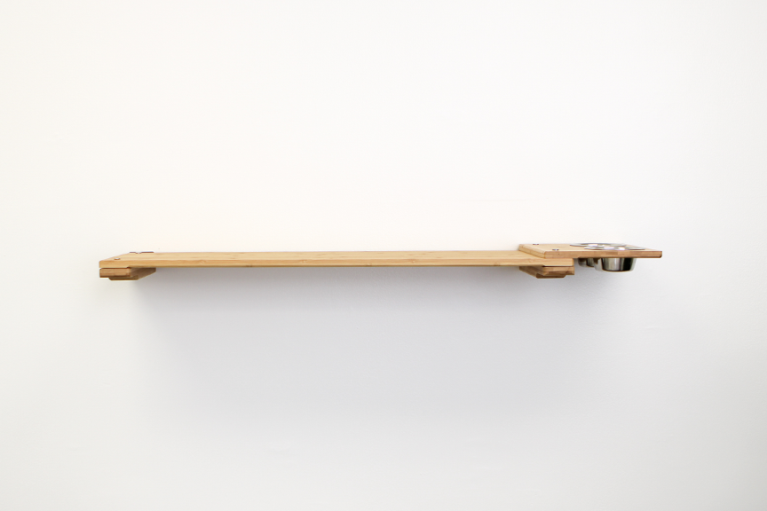 """Natural bamboo wood 34"""" Escape Hatch with Feeder attachment"""